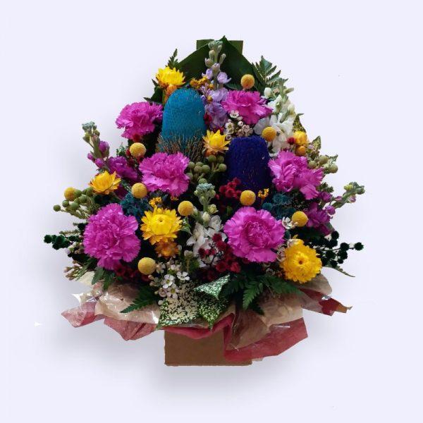小的澳洲本地花束花盒