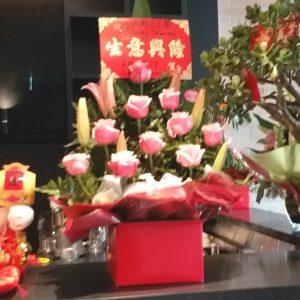 超过18枝花 (粉红色玫瑰及配花1) 开业花盒