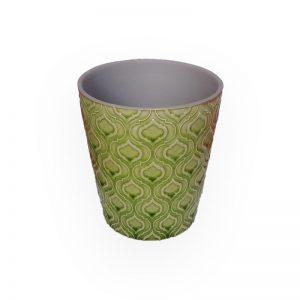 陶瓷花盘(绿色