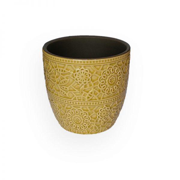 陶瓷花盘(黄色