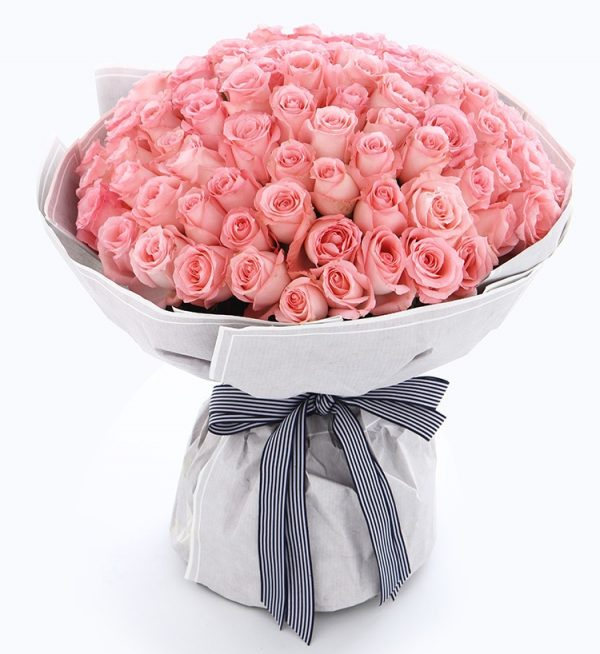 108枝粉红玫瑰/嫁给我吧