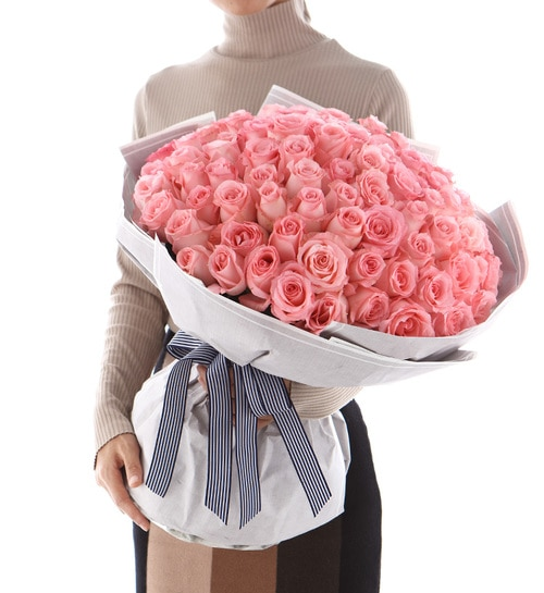 108 Stems Pink Rose