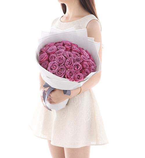 33 Stems Purple Rose
