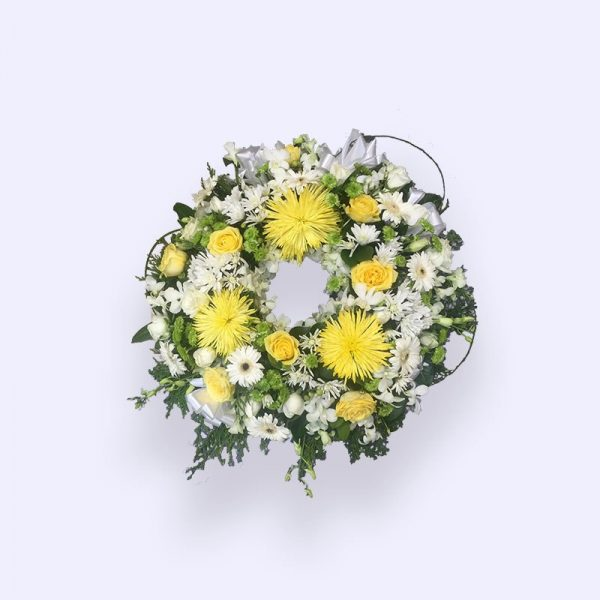 40cm (小) 黄色和白色花圈