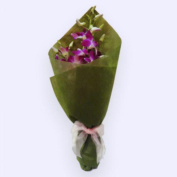 5 Stems Purple Singapo Orchid
