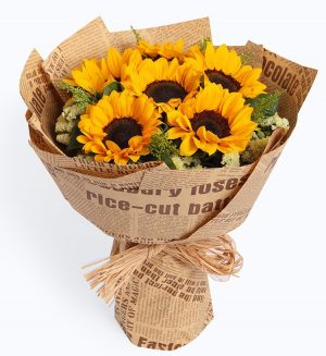 6 Stems Sunflower with Statice