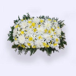 60cm (中) 黄白色平面花圈