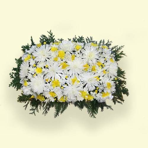 60cm (Medium) Yellow&white Flower Table Arrangements