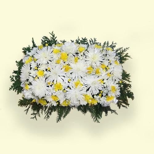 60cm (Medium) Yellow&white Flower Table Arrangements