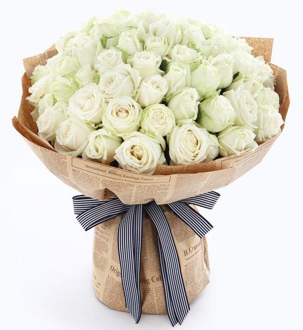 66枝白色玫瑰/爱您如初