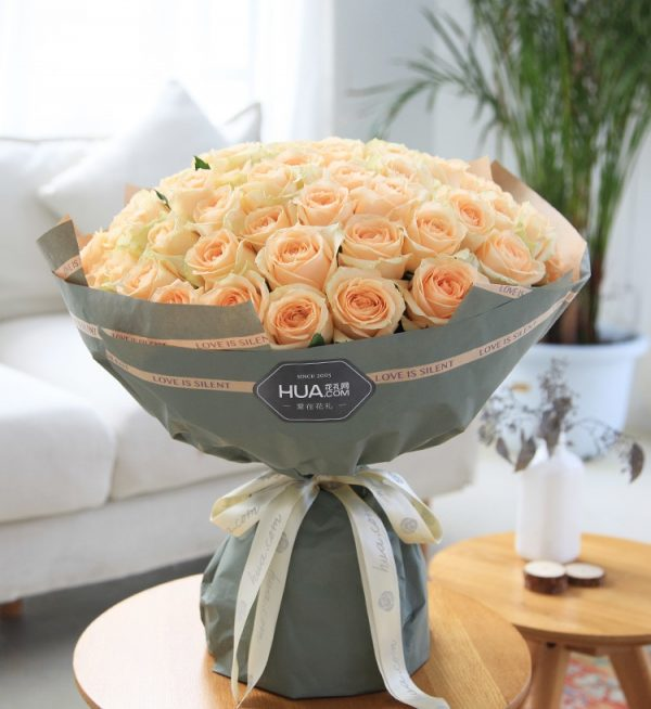 66 Stems Champagne Rose
