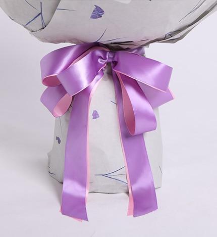 66 Stems Pink Rose & Dark Purple Statice
