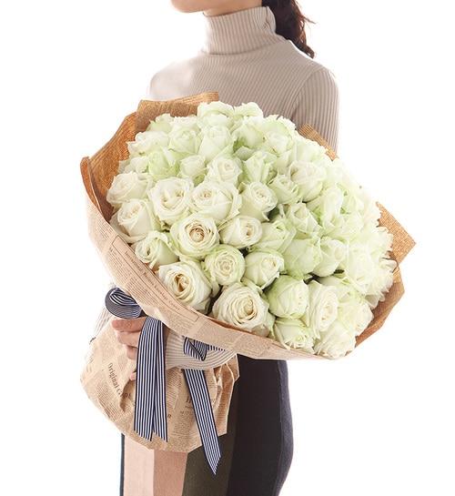 66 Stems White Rose