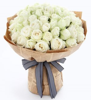66 Stems White Rose