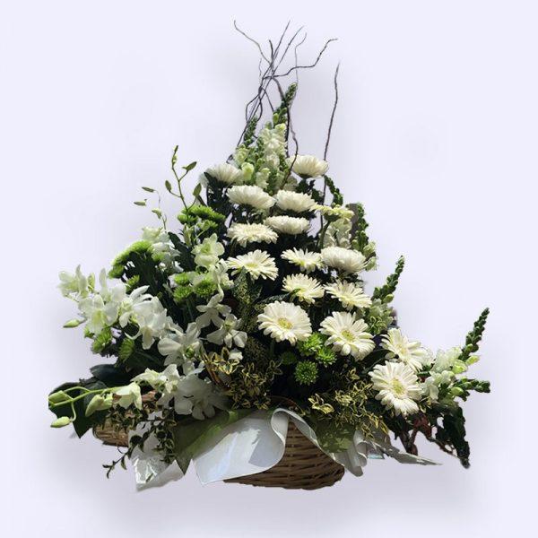 80cm (大) 绿白色花篮