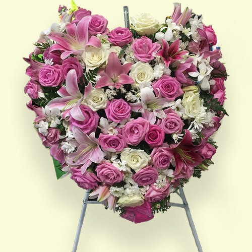 80cm (Large) Pink Flower Heart