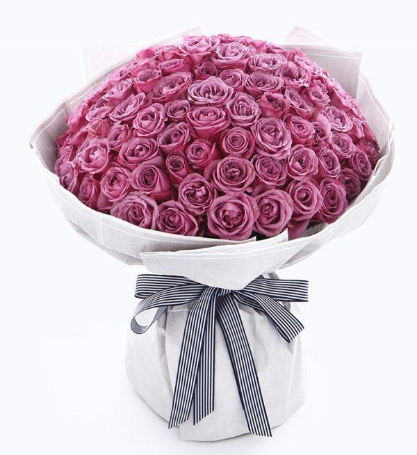 99枝紫色玫瑰/伴您久久