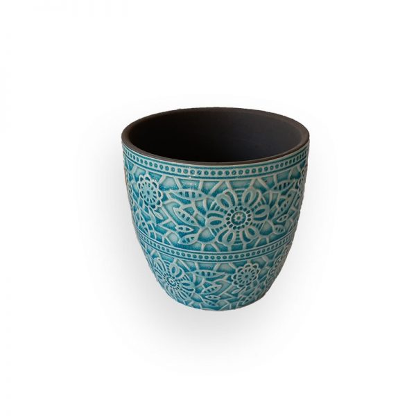 Ceramic flower Pot (Green