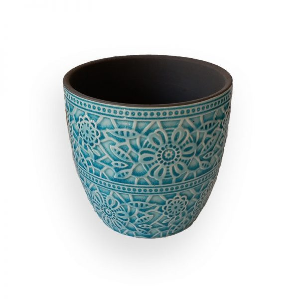 Ceramic flower Pot (Green