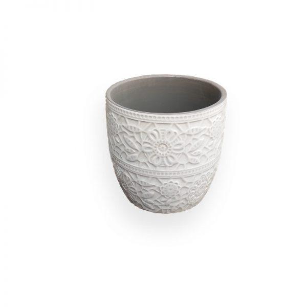 Ceramic flower Pot (Grey