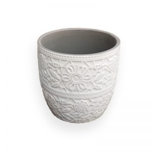 Ceramic flower Pot (Grey