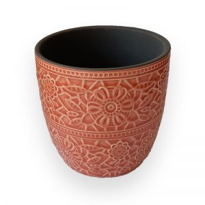 Ceramic flower Pot (Orange