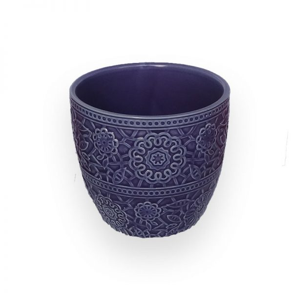 Ceramic flower Pot (Purple