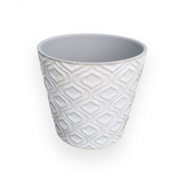Ceramic flower Pot (White