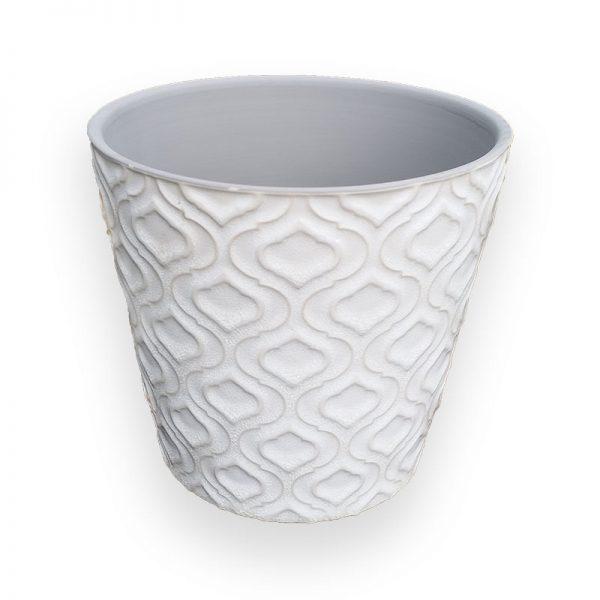 Ceramic flower Pot (White