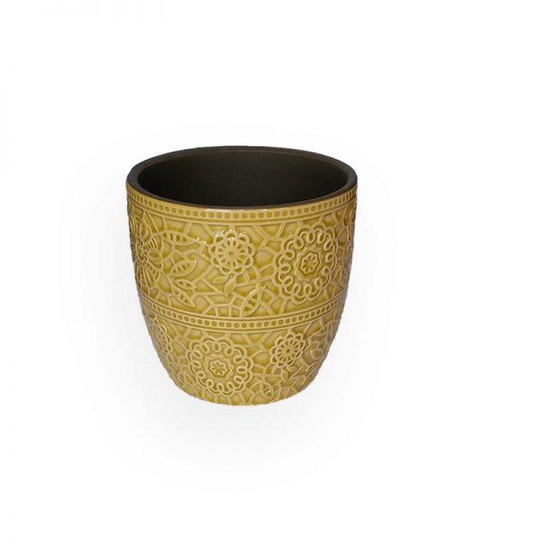 Ceramic flower Pot (Yellow