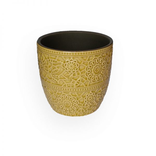 Ceramic flower Pot (Yellow